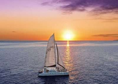 One of our beautiful sailboats on a Key West sunset cruise.