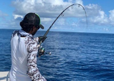 Bent rods on key west deep sea fishing charter