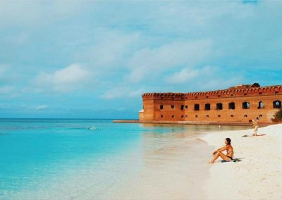 Relaxing at one of the beautiful Dry Tortugas Beaches