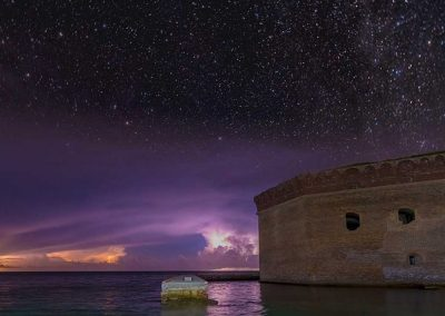 Stars seen from a Dry Tortugas Camping Trip