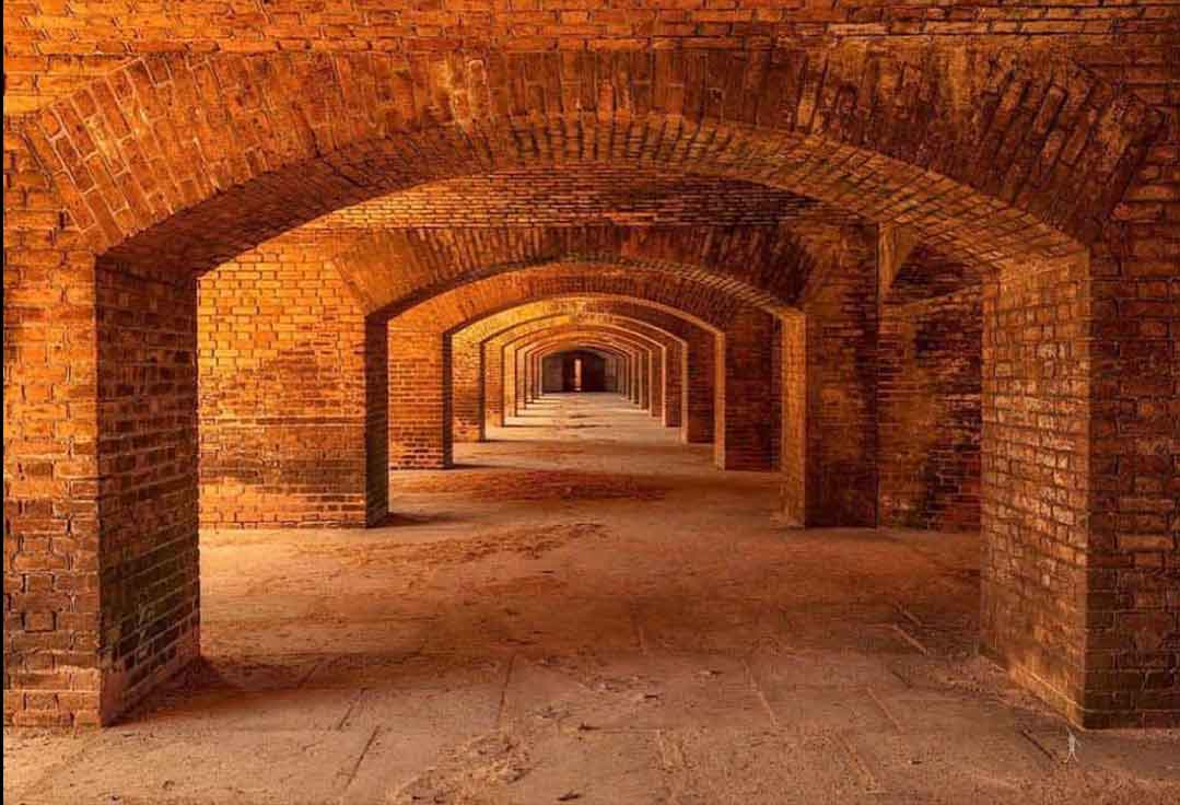 A hall at Dry Tortugas National Park