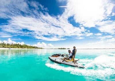 Key West Jet Ski Rental rides in tropical water