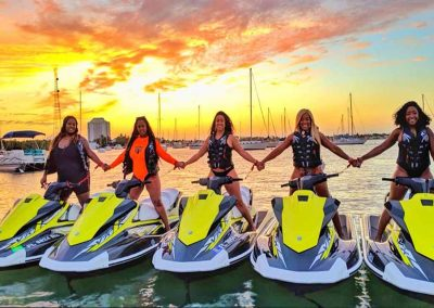 Group rests after a Key West Jet Ski Rental