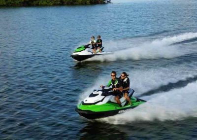 Two key west jet ski rentals cruising the Florida Keys