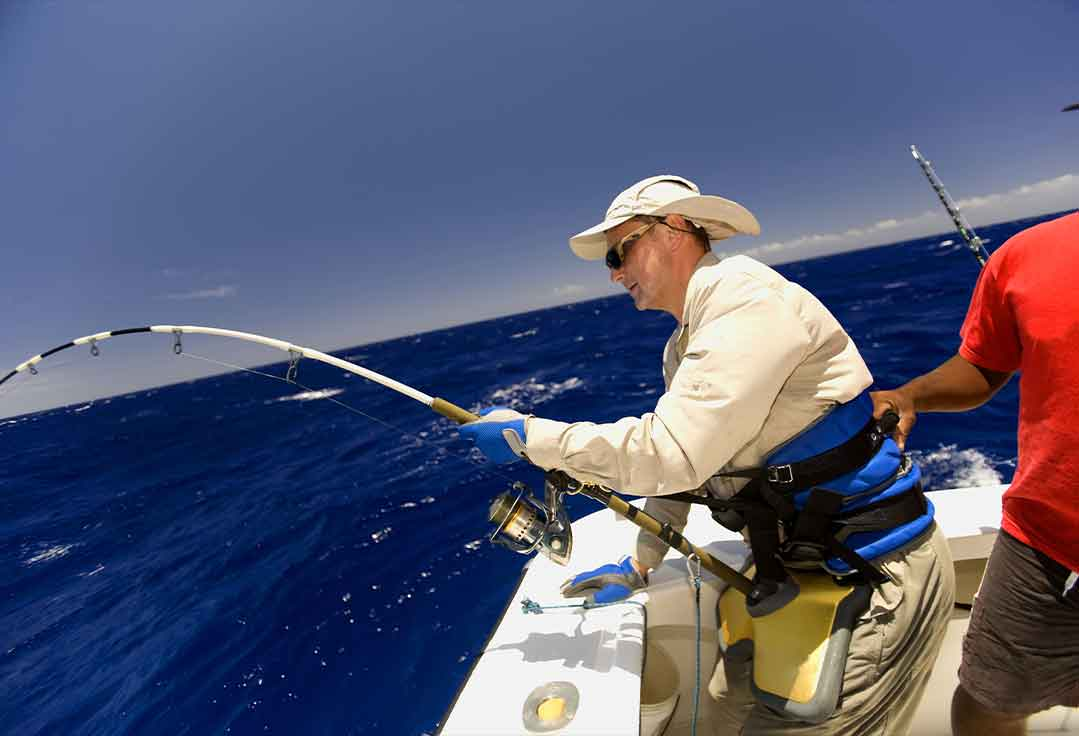 Man fights big fish with Key West Fishing Charters