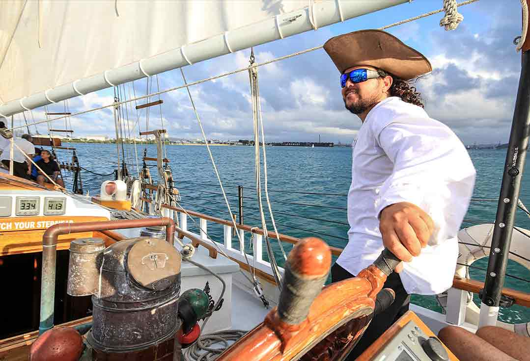 Friendly pirate charters cruise with Key West Sailing