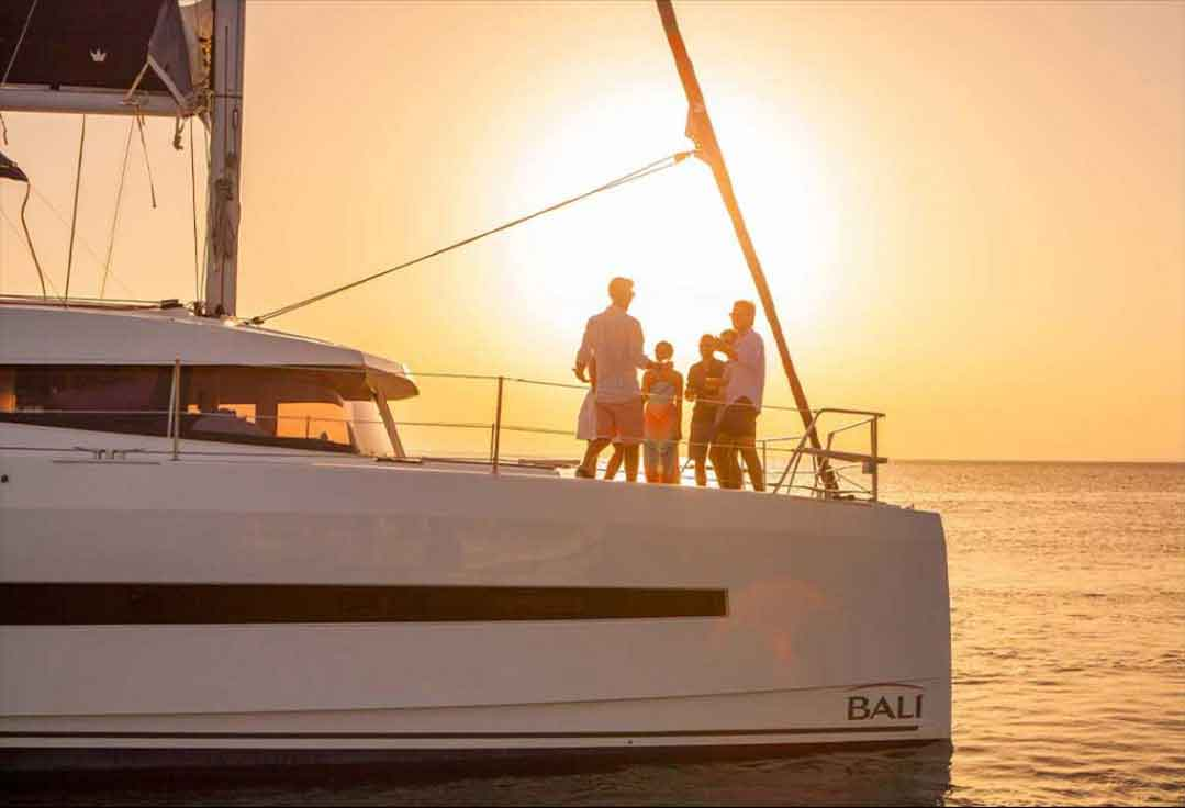 Friends sailing on a luxury charter with Key West Sailing