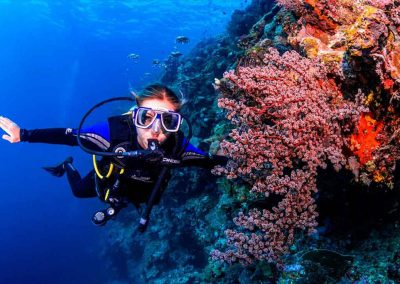 Lady explores our barrier reef with Key West Scuba Diving