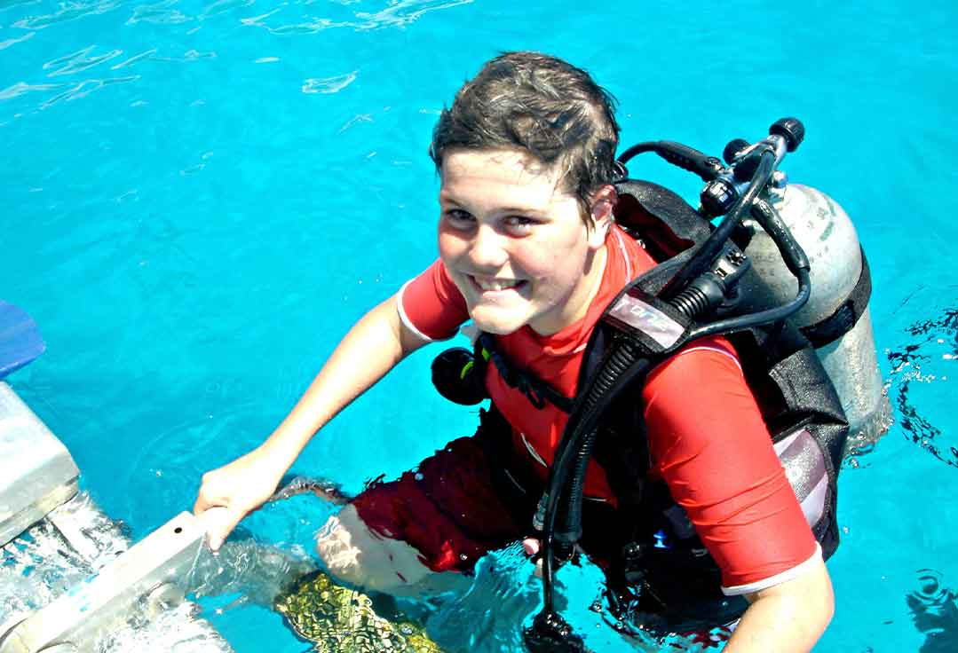 New Scuba Diver learns the ropes with Key West Scuba Diving