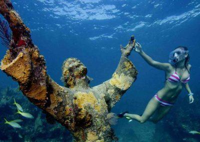 Underwater Jesus statue as seen by Key West Scuba Diving