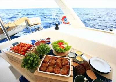 food buffet with Key West Boat Party