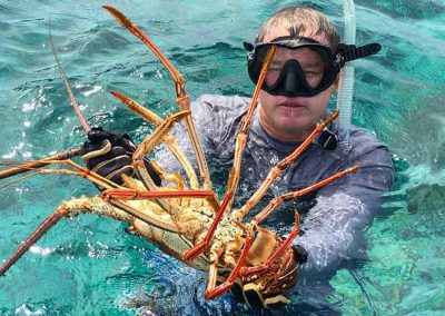 Lobster guy with Key West Lobstering Charters