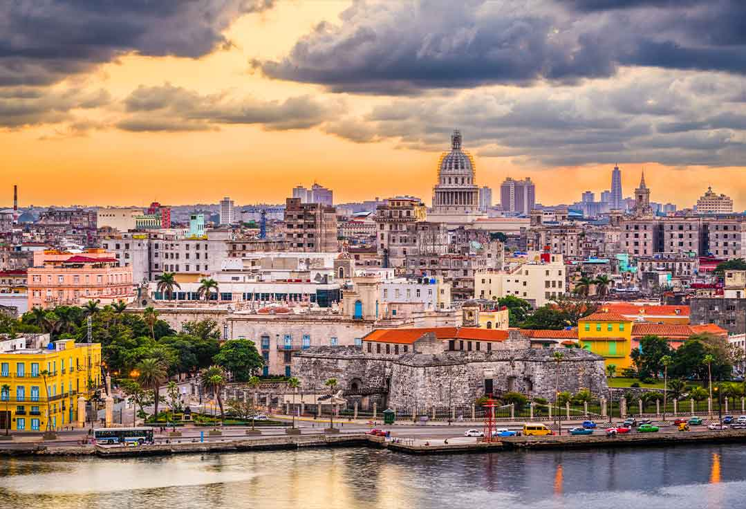 The Havana waterfront with Key West To Cuba