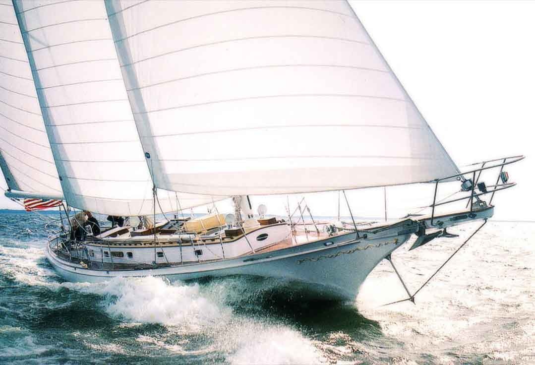 A charter sails with Key West Yacht Rentals