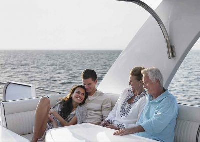 a family relax's with Key West Yachts