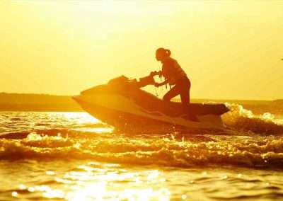Sunset ride during a Key West Jet Ski Rental trip.